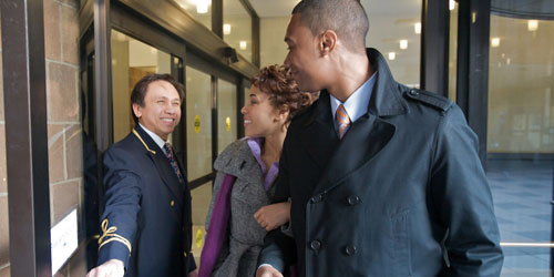 Doorman with Residents