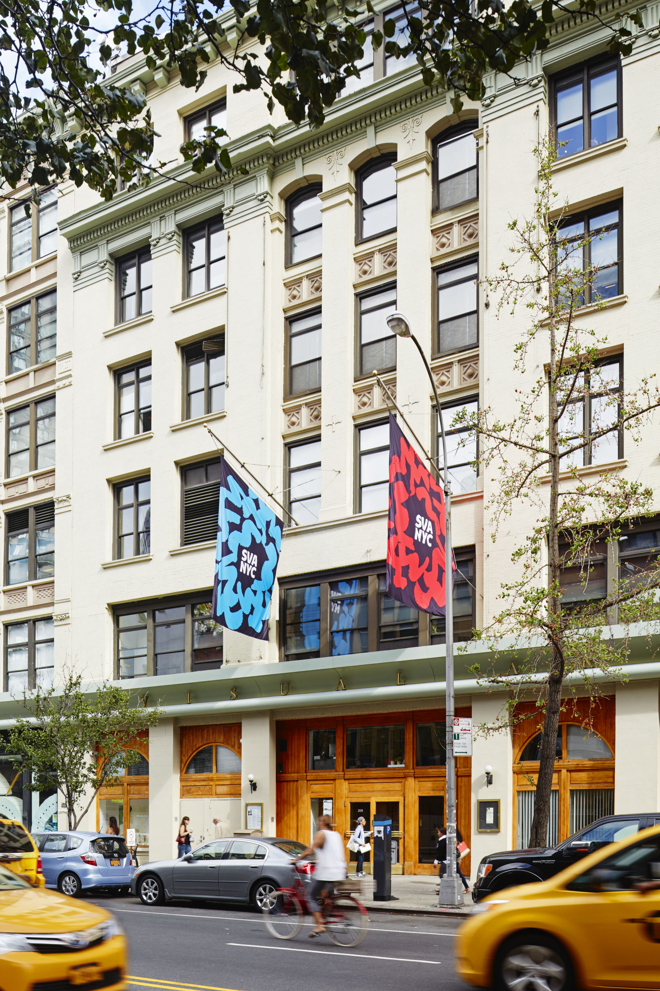 Exterior facade of School of Visual Arts on 23rd St.